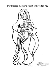 Coloring pages for Blessed mother coloring page